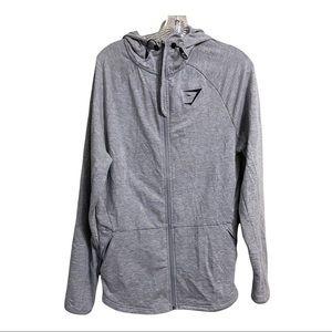 Gymshark Sz Lg Grey Zipper Hoodie